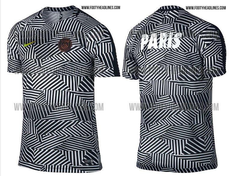 Foot PSG - PSG : Un maillot d'entraînement 2016-2017 révolutionnaire ...