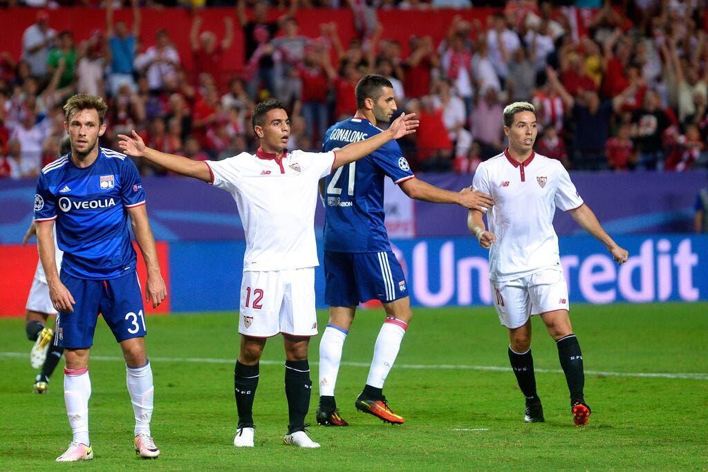 Foot ol ldc ben yedder crucifie l 39 ol ligue des - Resultat foot coupe europe ...