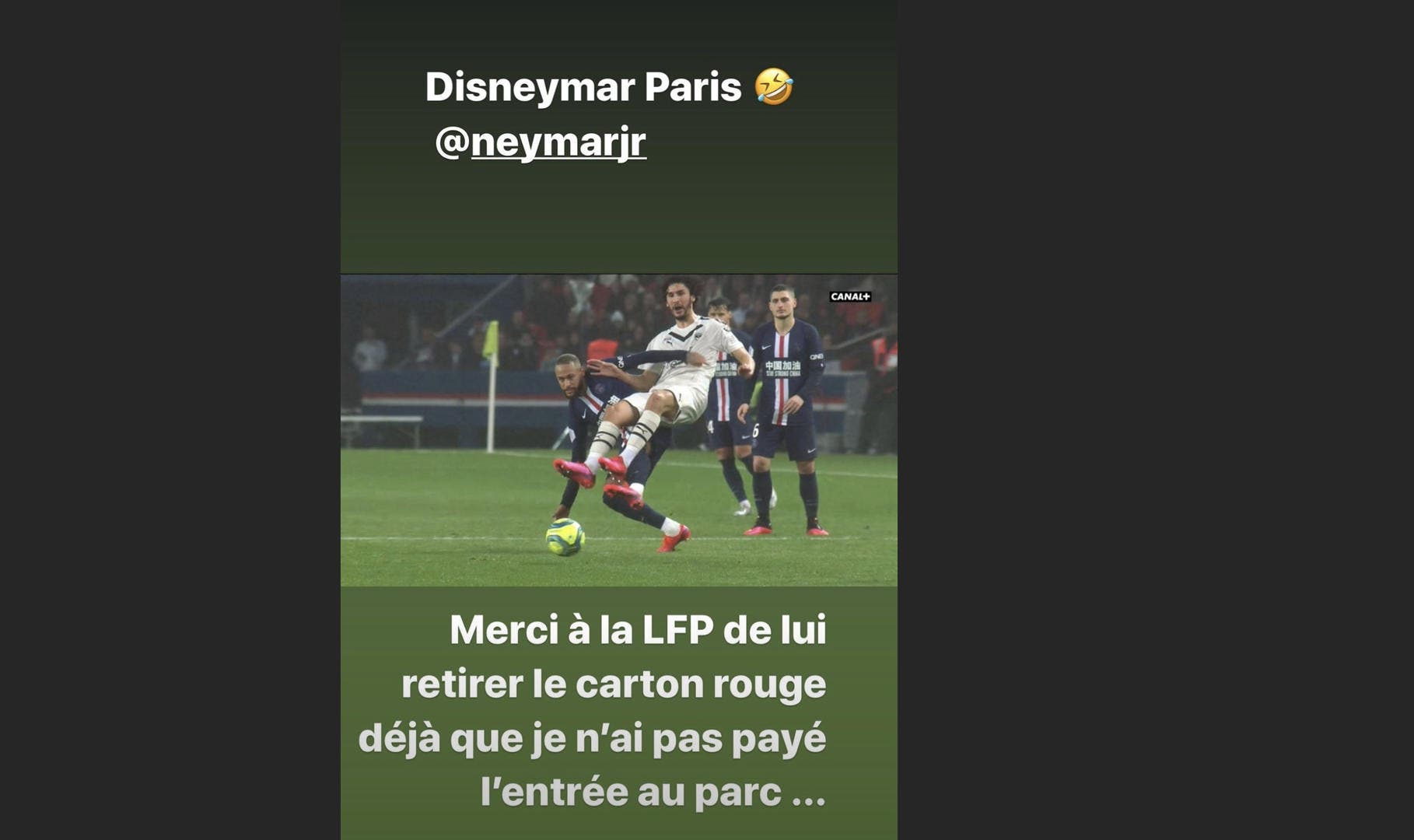 PSG : Adli demande le retrait du carton rouge à Neymar