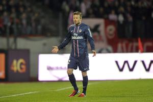 Le PSG prive Lorient de Beckham en raison de son synthétique