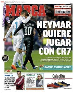 PSG : Neymar veut jouer avec Cristiano Ronaldo !