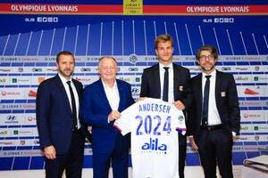 OL : Andersen dans 2 ans, Lyon le vendra 60ME !