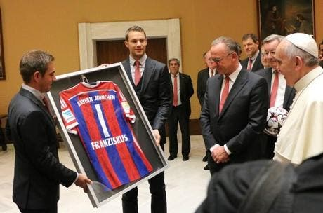 Le Bayern Munich reçu par le Pape François