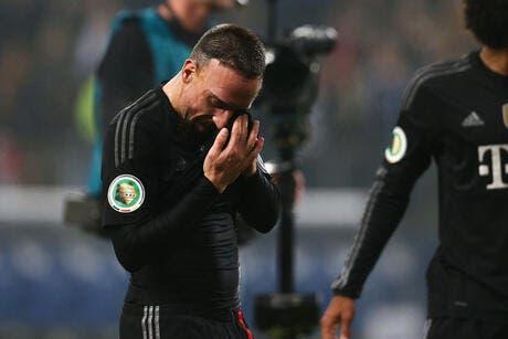 Vidéo : Ribéry se retient de ne pas craquer après son agression
