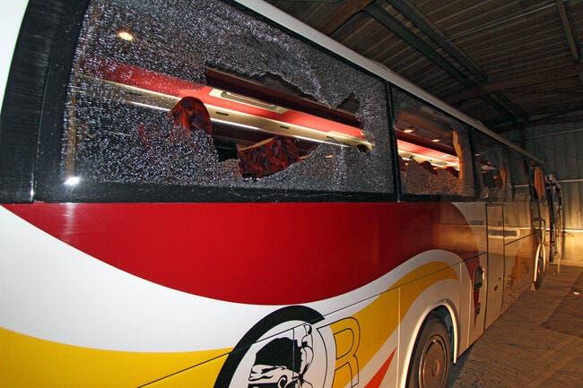 Photo : Le bus de Caen dans un sale état à Ajaccio