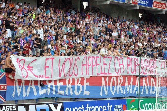 Caen réussit à se mettre à dos ses supporters