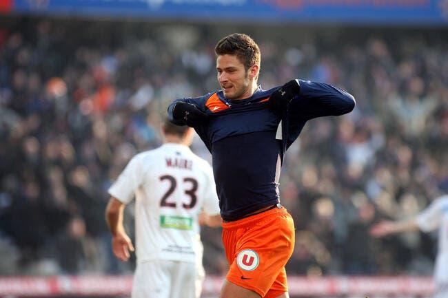 Giroud peut partir de Montpellier pour 16 ME