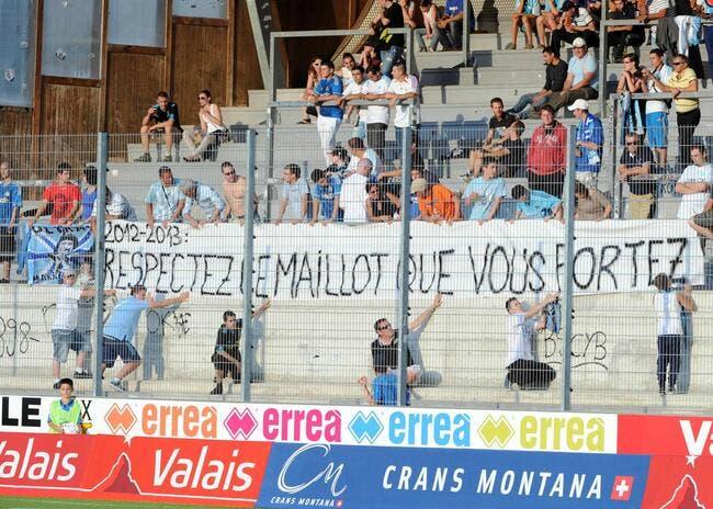 Photo : Même à Sion, les supporters de l'OM mettent la pression