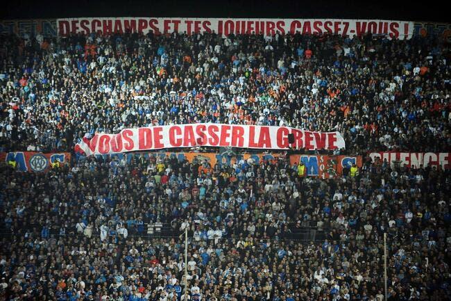 Photo : Une banderole qui claque contre Deschamps et les joueurs de l'OM