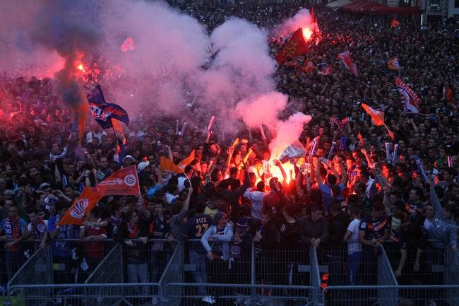 Photo : Montpellier et la Comédie en feu pour le titre