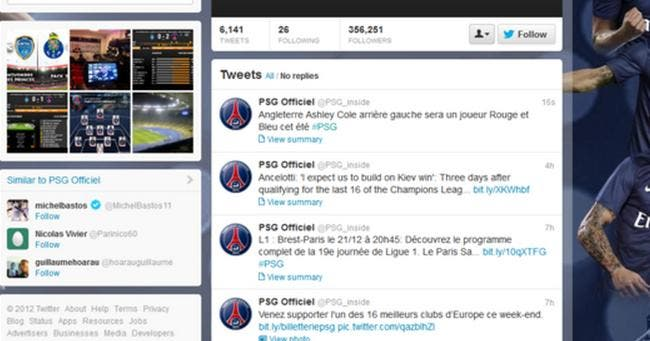 Le PSG annonce trop vite la future signature d'Ashley Cole via Tweeter