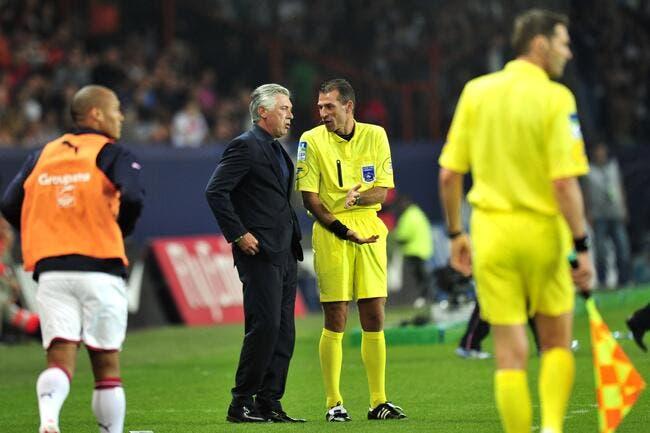 Ancelotti aime bien les arbitres en général