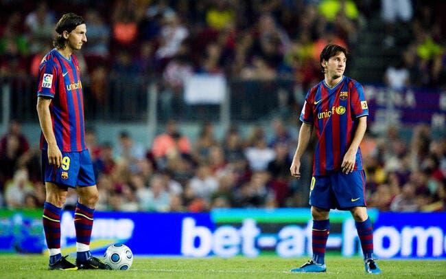 Même au PSG, Ibrahimovic n'a pas oublié Messi et Guadiola
