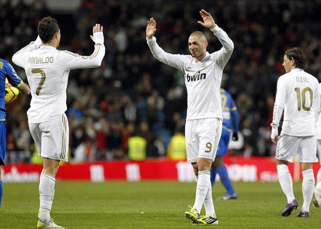 Benzema et Cristiano Ronaldo remettent le Real sur le bon chemin