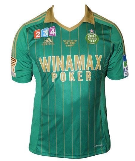 Photo : Le maillot de l'ASSE pour la finale de la Coupe de la Ligue dévoilé