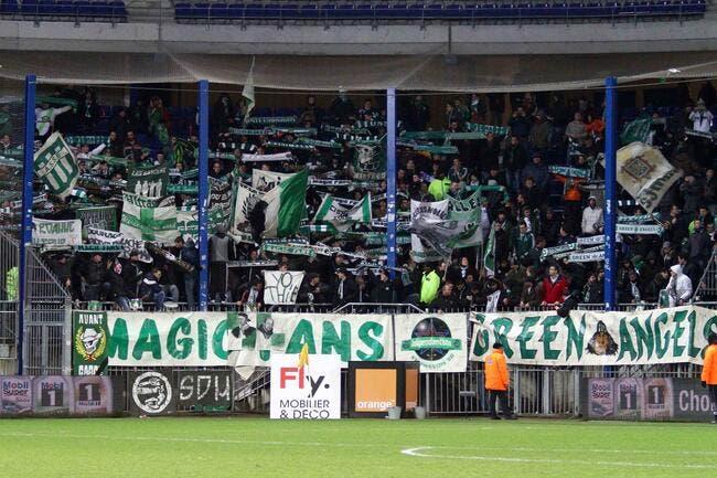Une charge venue de Brest contre les supporters de l'ASSE
