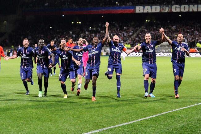 Football ligue 1 le psg sacr champion de france lyon ol psg foot 01 - Papier peint psg ...