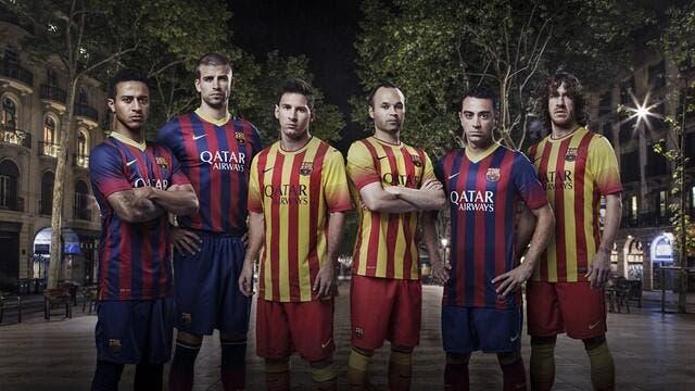 Les nouveaux maillots du Barça dévoilés