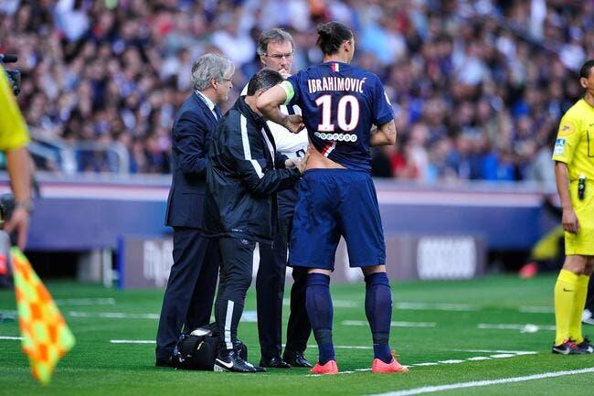 Ibrahimovic zlatanise sa blessure avec le PSG