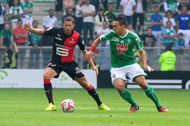 Rennes ralentit l'ASSE, Bordeaux en profite