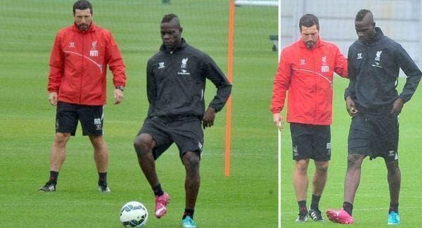 Photo : Balotelli s'entraîne avec Liverpool