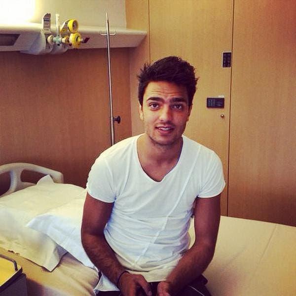 Clément Grenier relax avant son opération ce mardi