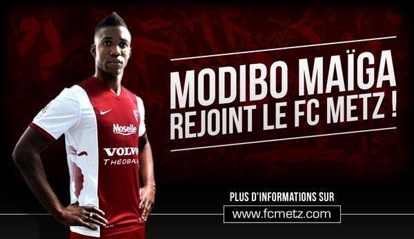 Modibo Maïga prêté pour un an au FC Metz