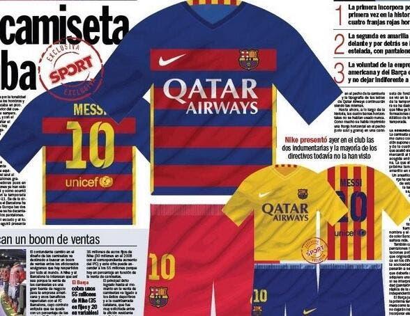 Photo : Le futur maillot du Barça va faire parler