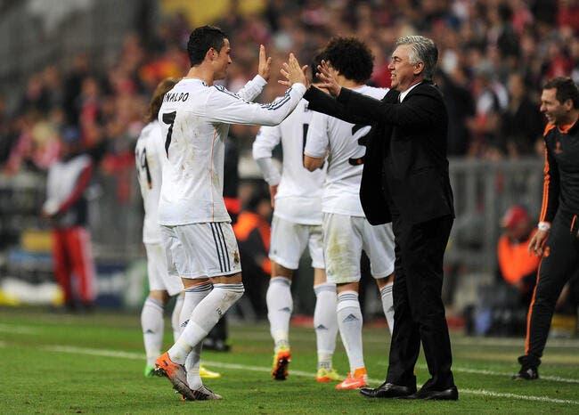 Cristiano Ronaldo a mis Ancelotti sur les fesses