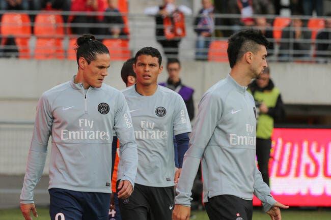 57 ME pour Cavani, 40 ME pour Thiago Silva, la valeur des joueurs du PSG