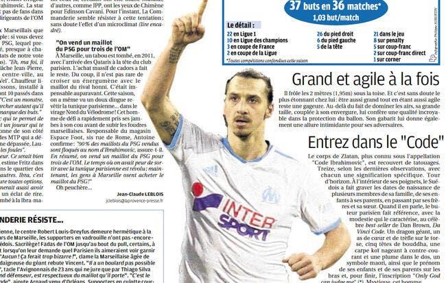 Ibrahimovic rend le PSG populaire à Marseille !