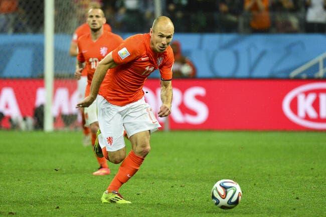 Robben met un vent terrible à Van Gaal et à Man Utd en direct