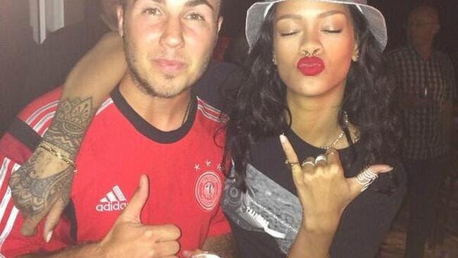 Rihanna flashe carrément pour l'Allemagne et Götze