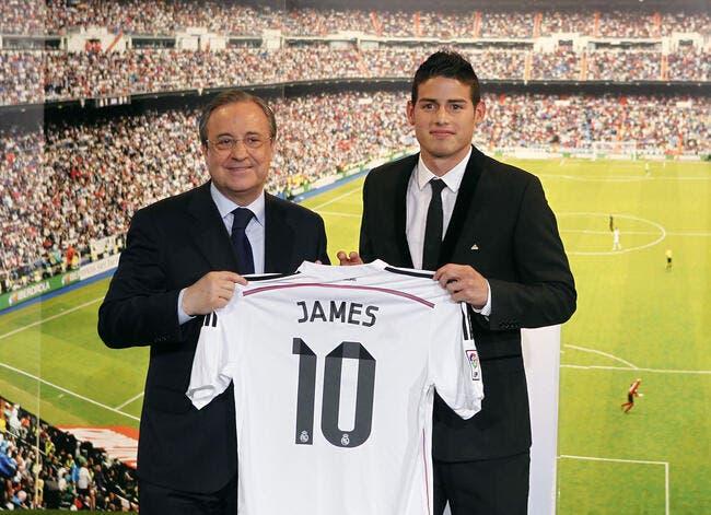 Photo : James Rodriguez présenté aux supporters du Real Madrid