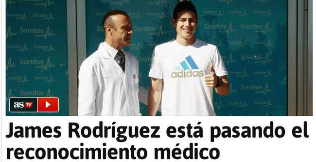 Visite médicale en cours pour James Rodriguez au Real Madrid