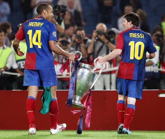 Cristiano Ronaldo ou Messi, Thierry Henry tranche