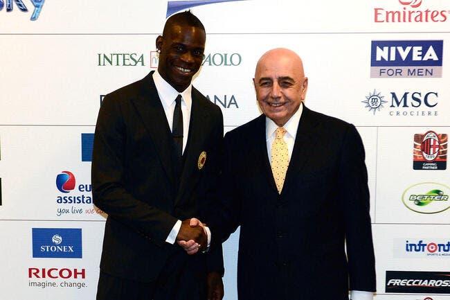Le Milan AC y va cash sur l'avenir de Balotelli