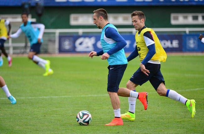 Ribéry va doublement manquer aux Bleus regrette Cabaye