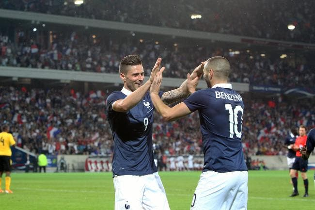 Giroud-Benzema, Deschamps a adoré