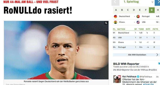 Cristiano Ronaldo ridiculisé par la presse allemande