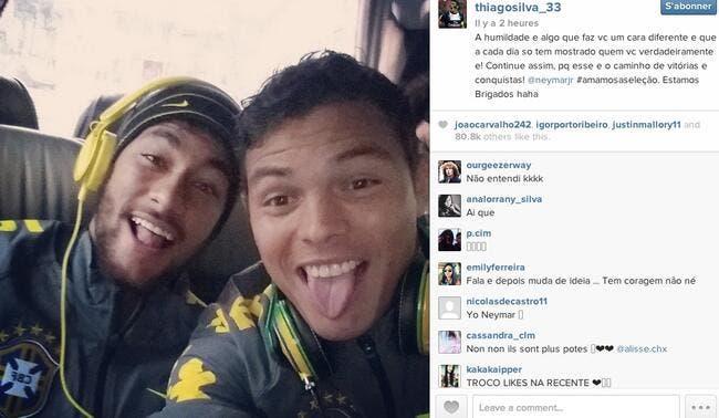 Thiago Silva l'assure, il ne boude pas Neymar