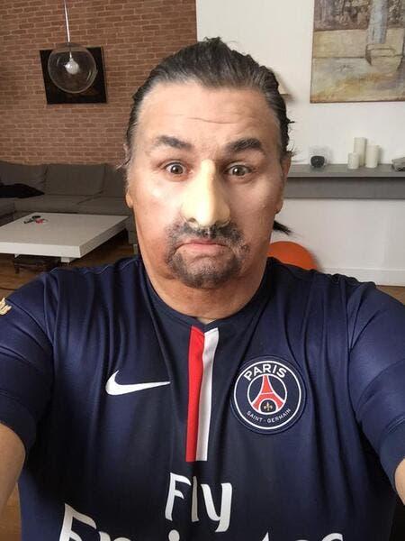 Photo : Quand Pierre Ménès se déguise en Ibrahimovic