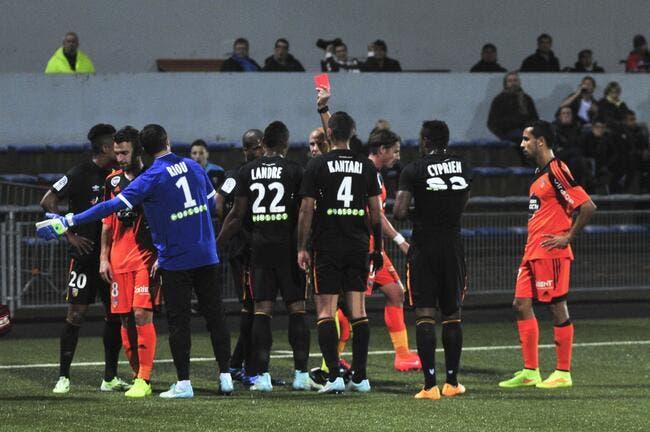 Sept matchs de suspension pour Landre