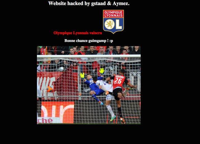 Des supporters de l'OL ont-ils piraté le site internet de Guingamp ?