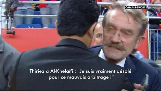 Thiriez s'excuse auprès d'Al-Khelaifi pour l'arbitrage