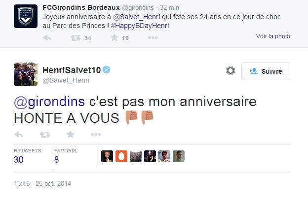 Bordeaux enchaîne les fails sur Twitter