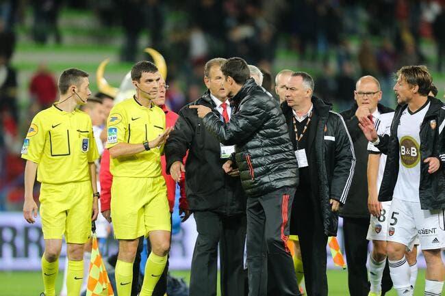 Lorient remonté contre l'arbitre pour une histoire de penalty