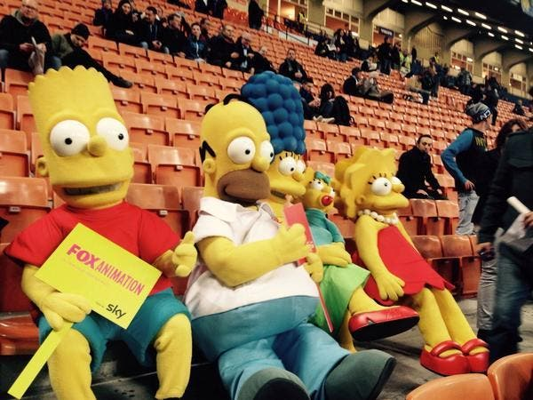 Photo : Oh punaise, les Simpson sont à Inter-Sampdoria
