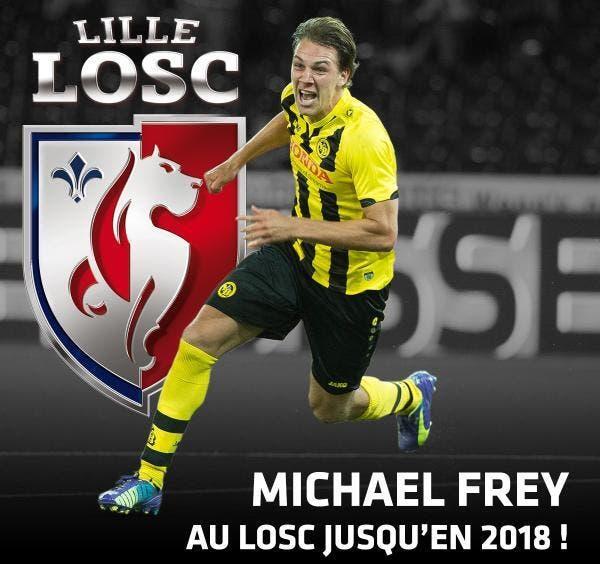 Lille officialise la signature de Michael Frey