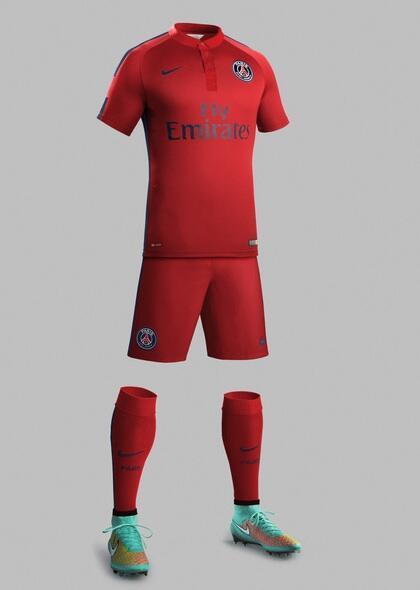 Le PSG sort le rouge pour son maillot européen